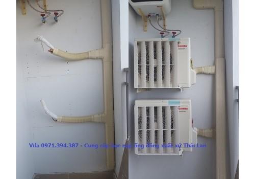 Trunking - Máng cáp nẹp ống đồng ống nước máy lạnh điều hòa