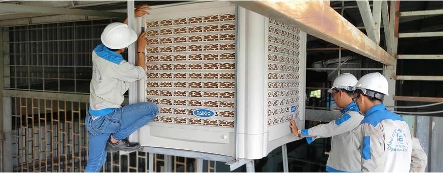 Lắp đặt máy làm mát công nghiệp
