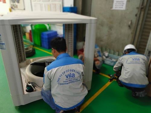 Trúng thầu lắp đặt máy làm mát công nghiệp cho công ty Việt Nhật