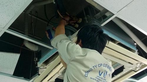 nạp gas máy lạnh của Điện Lạnh Vila